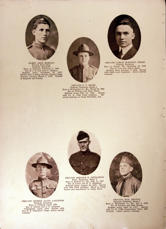 WWI Honor Roll Page 151