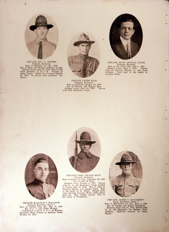 WWI Honor Roll Page 157