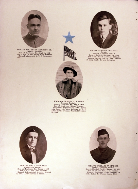 WWI Honor Roll Page 165