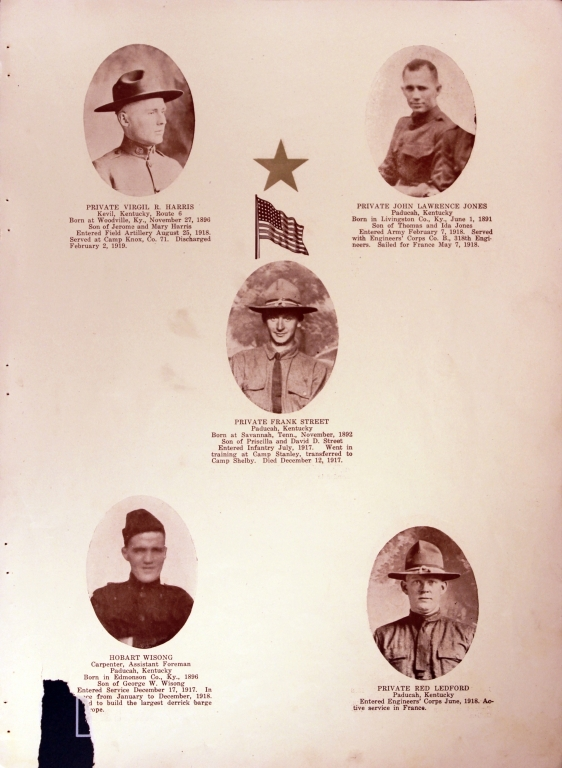 WWI Honor Roll Page 168