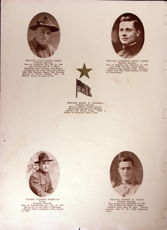 WWI Honor Roll Page 185