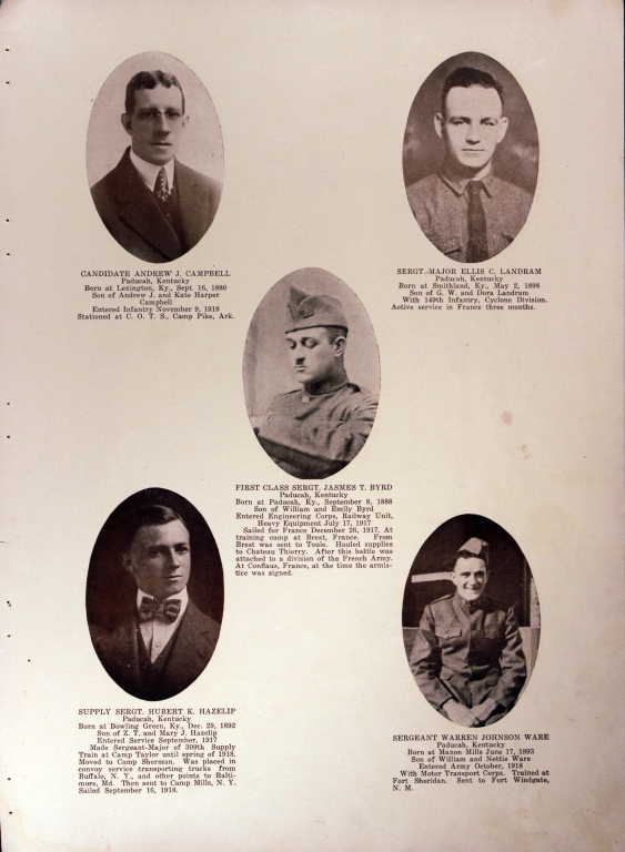 WWI Honor Roll Page 072