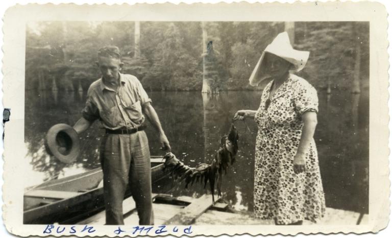 William and Maud Warner at Turner Lake