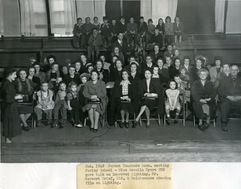 1948 PTA Meeting at Farley school
