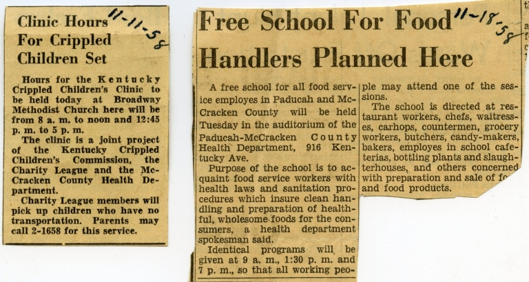 1958 Newspaper Clippings