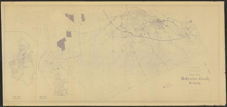 Zone map of McCracken County (KY)