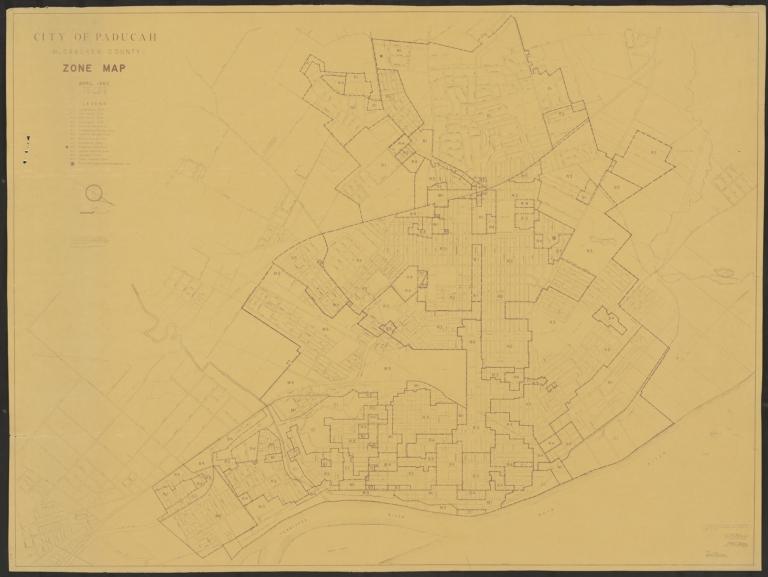 Paducah (KY) Zone Map 1962