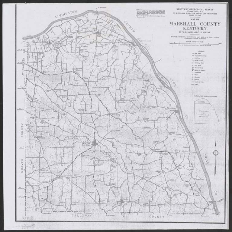 Map of Marshall County (KY)