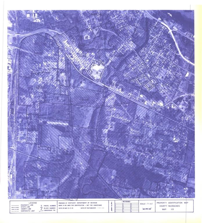 Property Identification Map McCracken County, Map 113