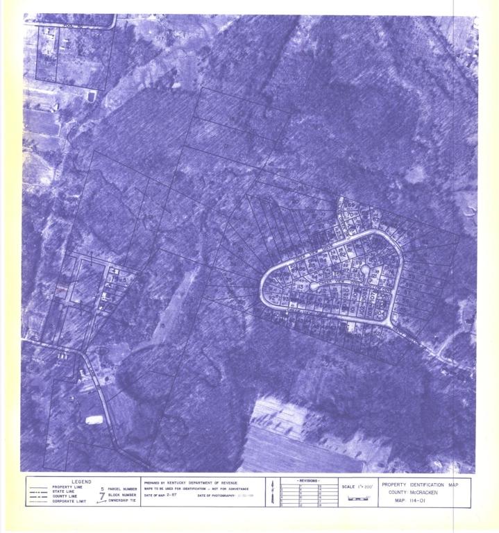 Property Identification Map McCracken County, Map 114-01
