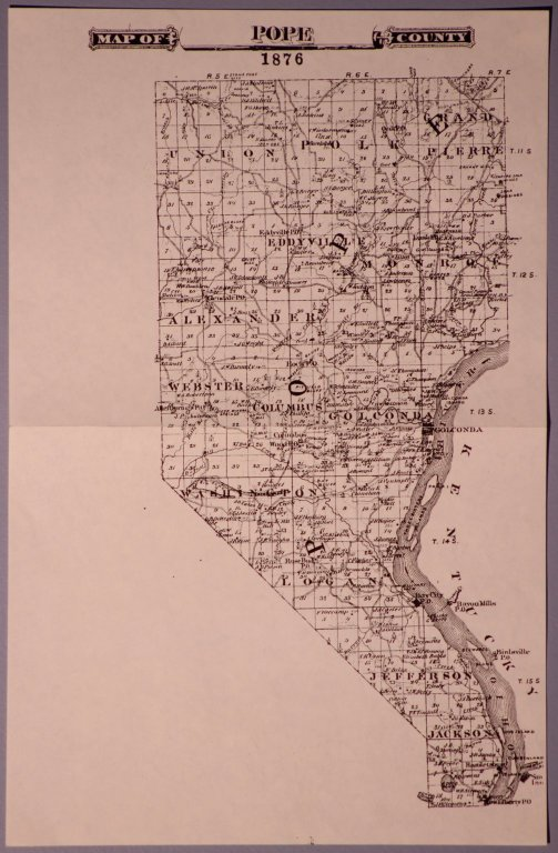 Map of Pope County 1876