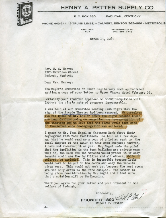 Letter From Bob Petter Addressing Human Rights Inequities