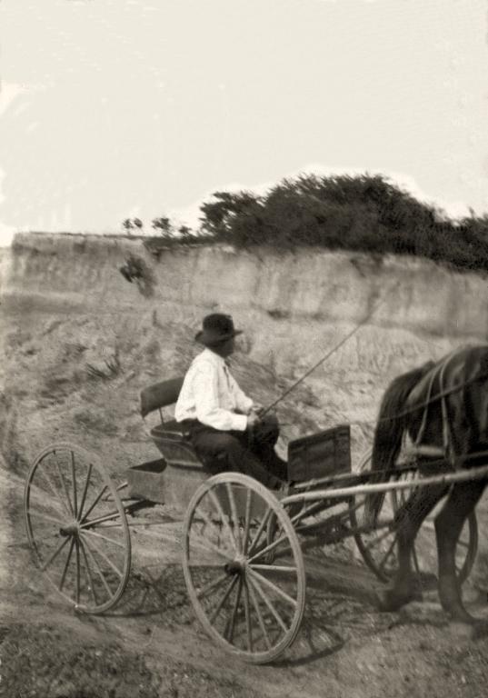 John William Bell at gravel pit