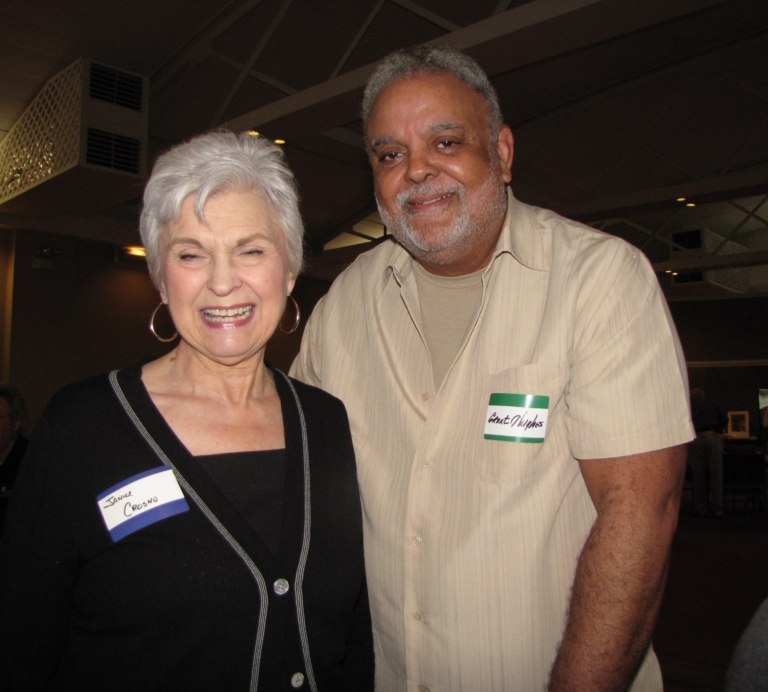 """Janice Crosno and Grant Hughes at """"Old Timer's luncheon"""""""