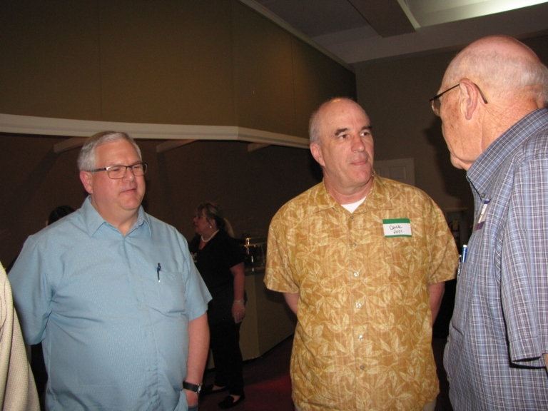 """Mark Hall, Chuck Voss and Charlie Katterjohn at """"Old Timer's"""