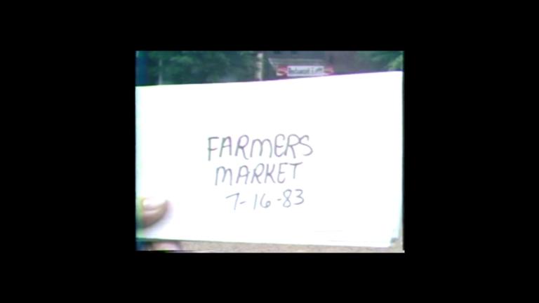 Farmers' market held on Broadway