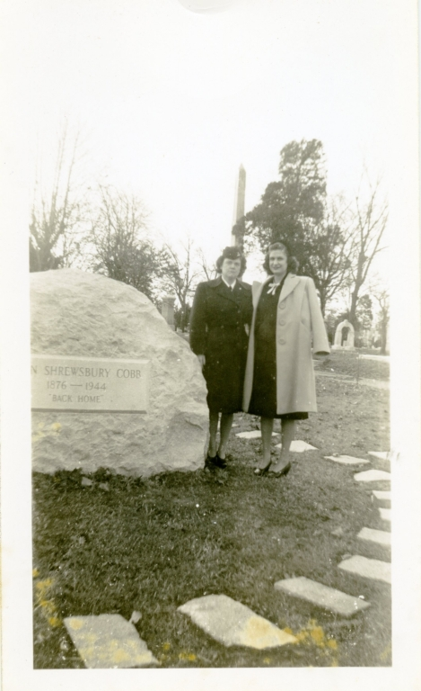 Women by Irvin S. Cobb's Grave