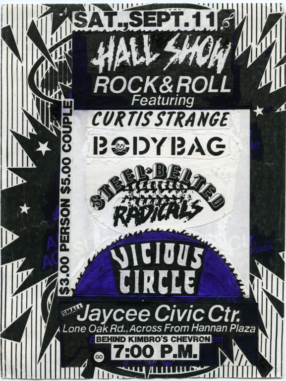 September 11th Jaycee Civic Center Show Flyer