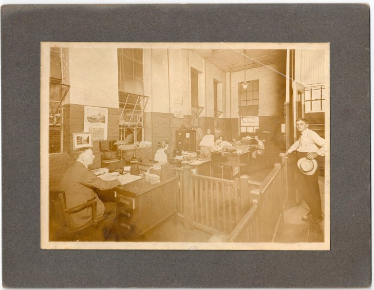 At Desk George Steinhauer in 1921