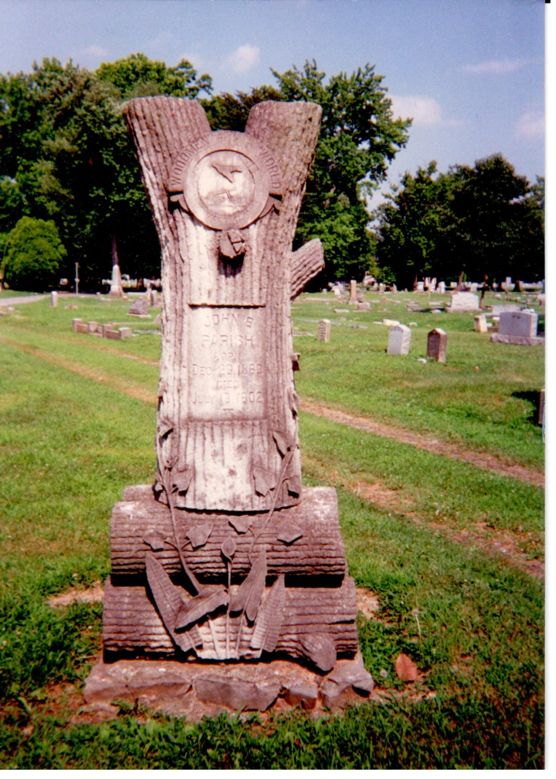 Oak Grove Cemetery, John B. Parish, Woodmen of the World