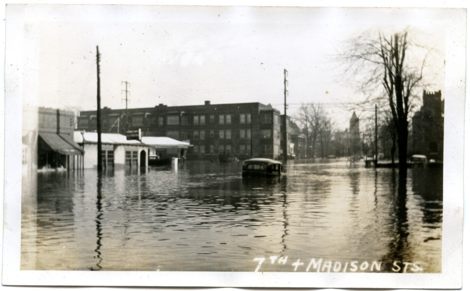 Intersection in Lowertown during '37 flood.