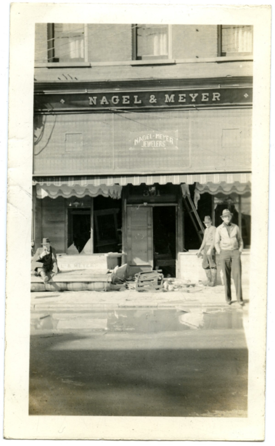 Jewelry store in downtown Paducah during '37 flood.