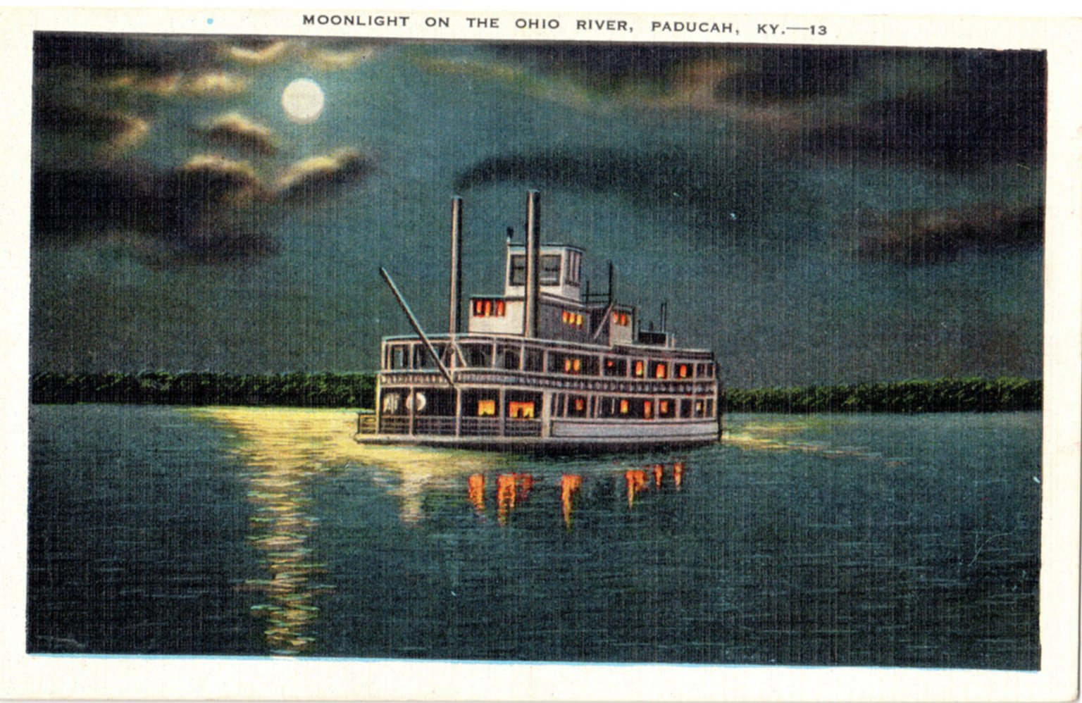 Moonlight On The Ohio River, Paducah, KT. -13