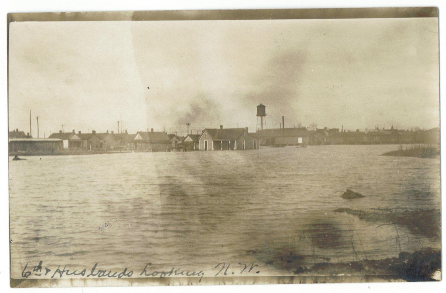 1913 Flood, 6th & Husbands Looking N.W.