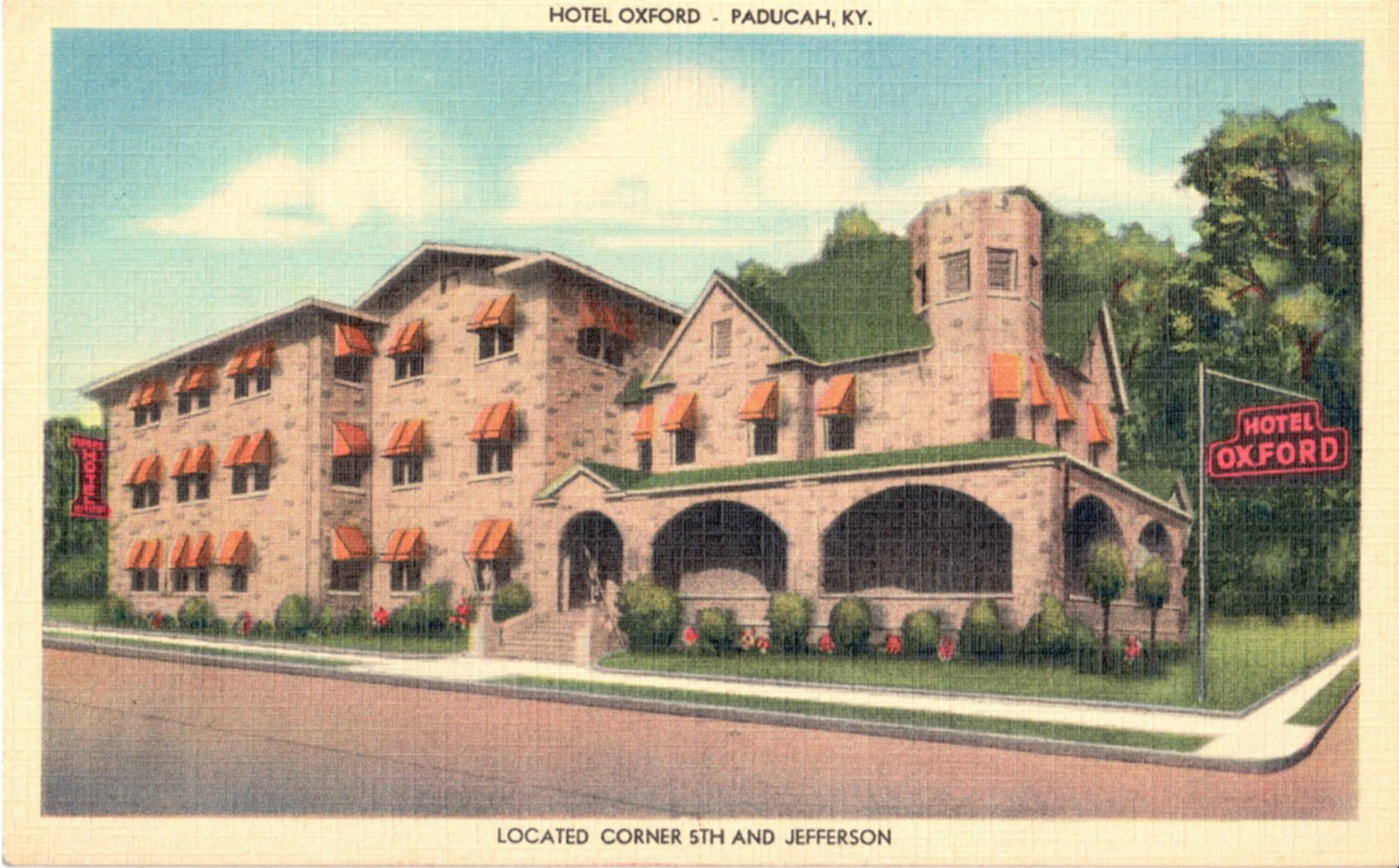 Hotel Oxford, Paducah, KY, Located Corner 5th Jefferson