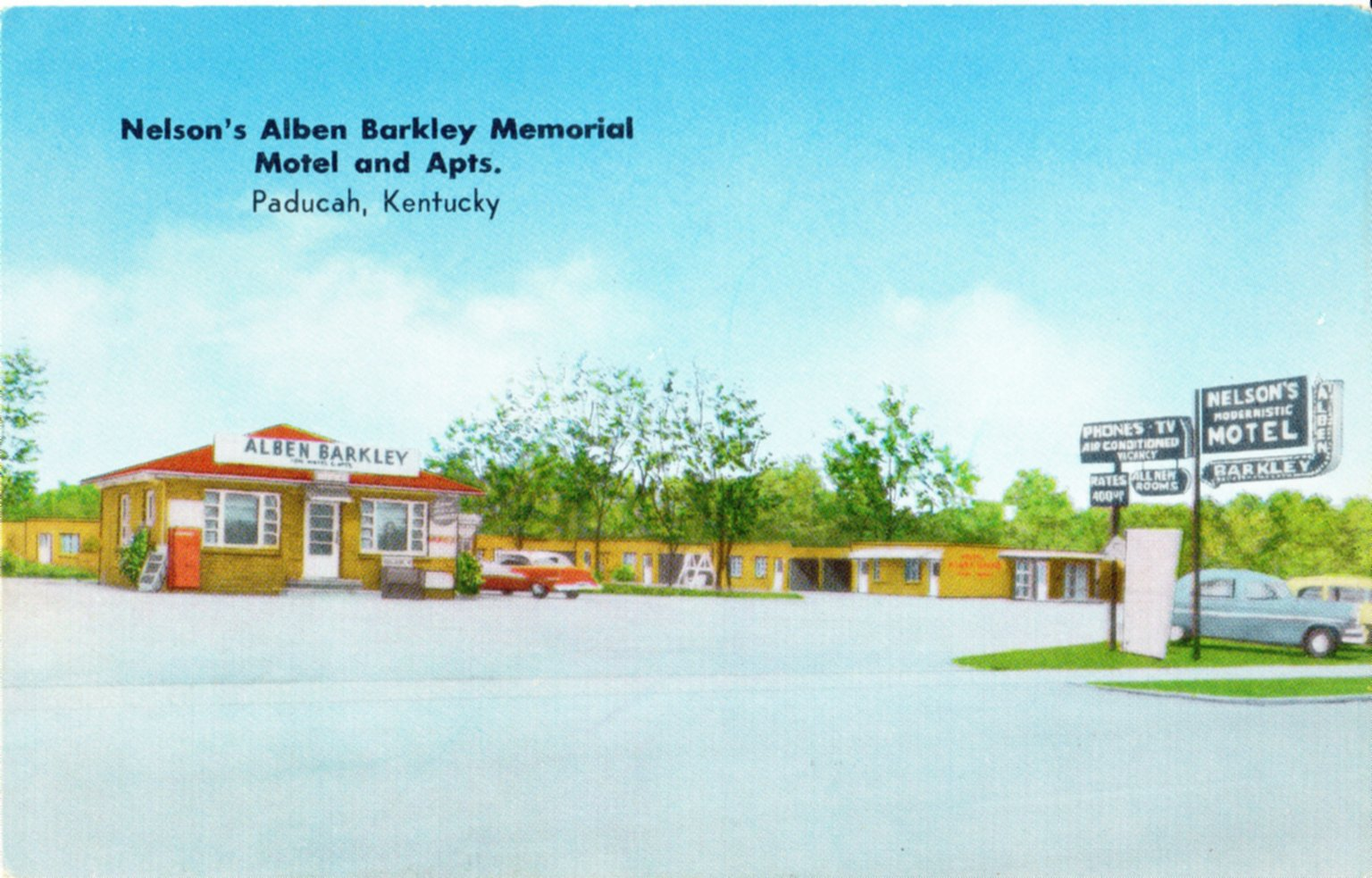 Nelson's Alben Barkley Memorial Motel and Apts., Paducah, Kentucky