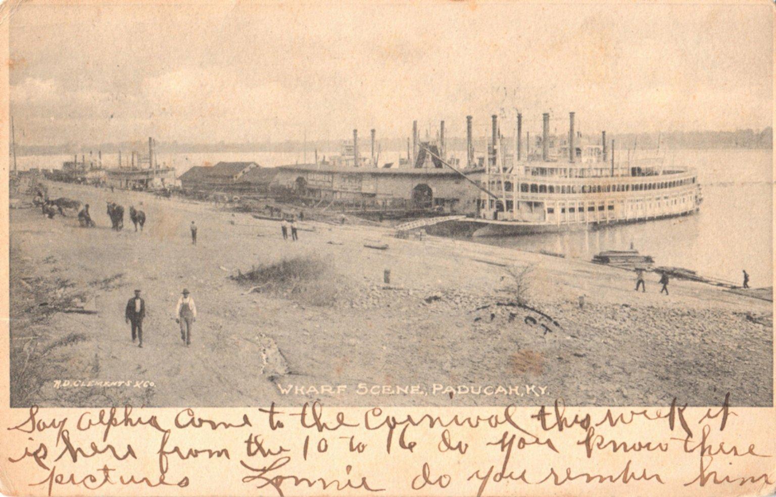 Wharf Scene, Paducah, KY.