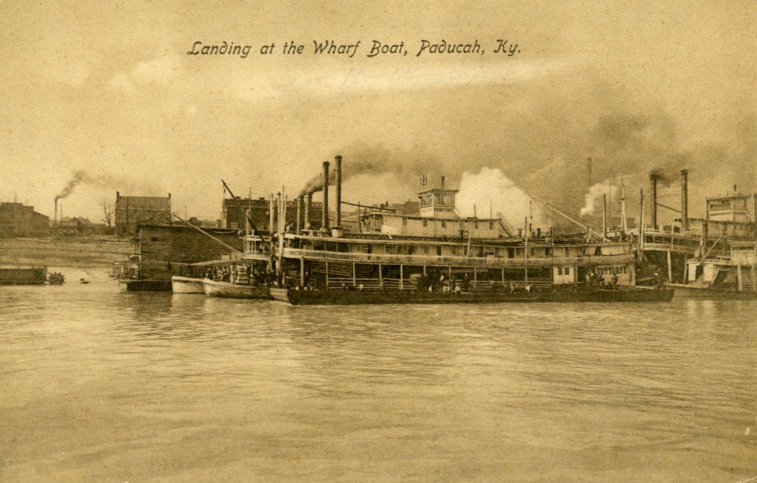 Landing at the Wharf Boat, Paducah, KY.