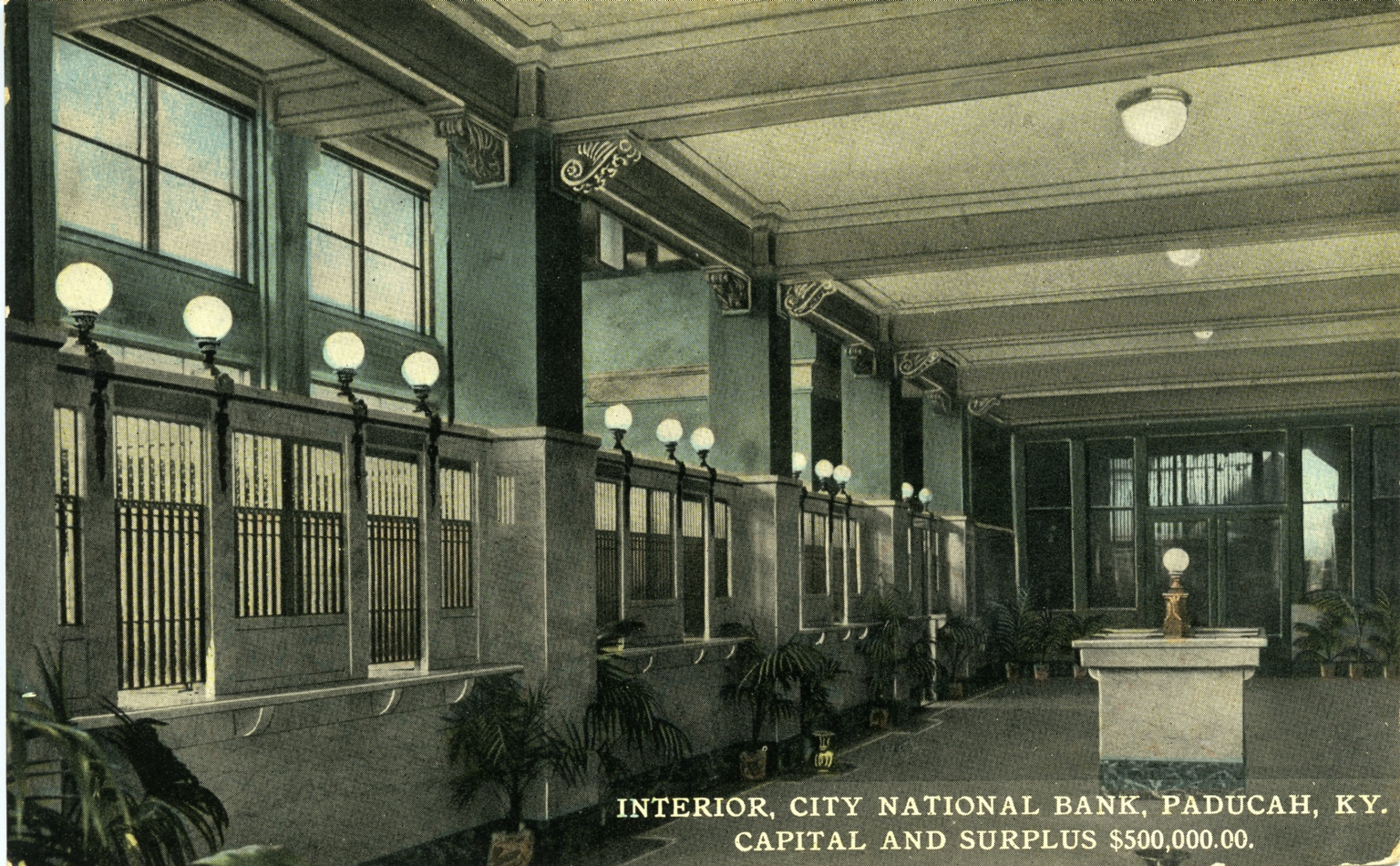 Interior of City National Bank in Paducah (KY)