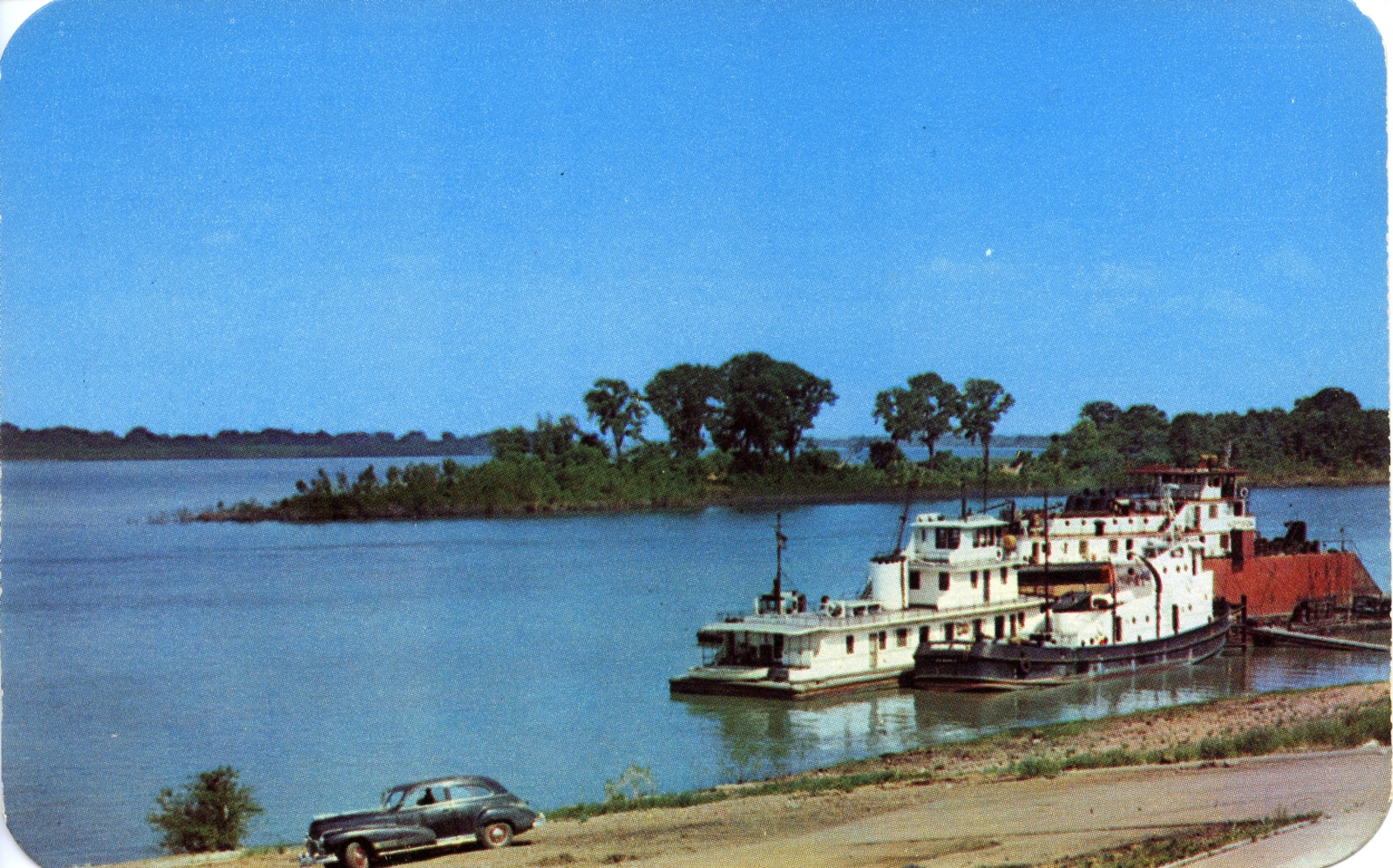 Junction of Ohio and Tennessee Rivers at Paducah (KY)