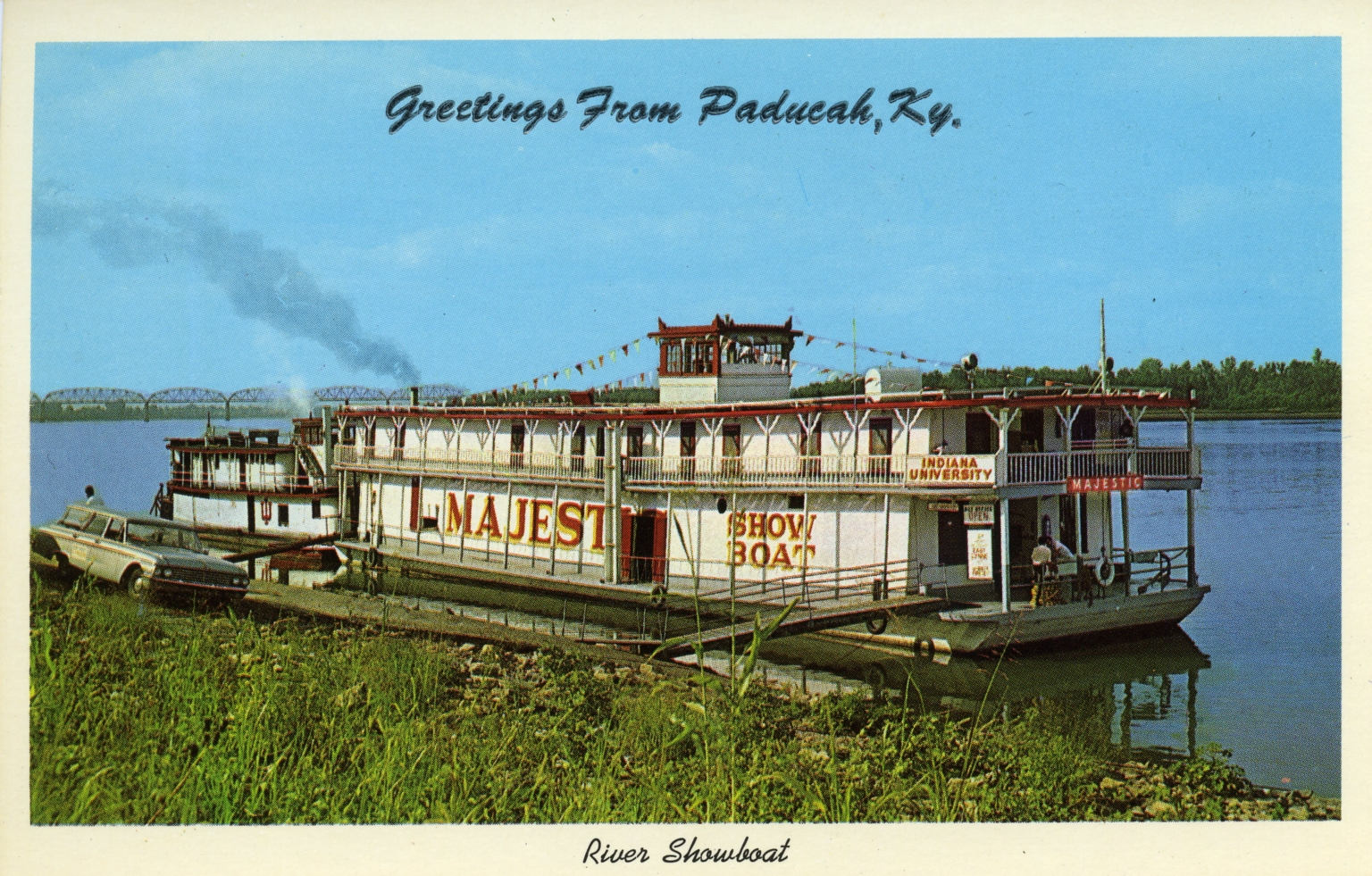 Majestic showboat of Indiana University on Ohio River at Paducah (KY)