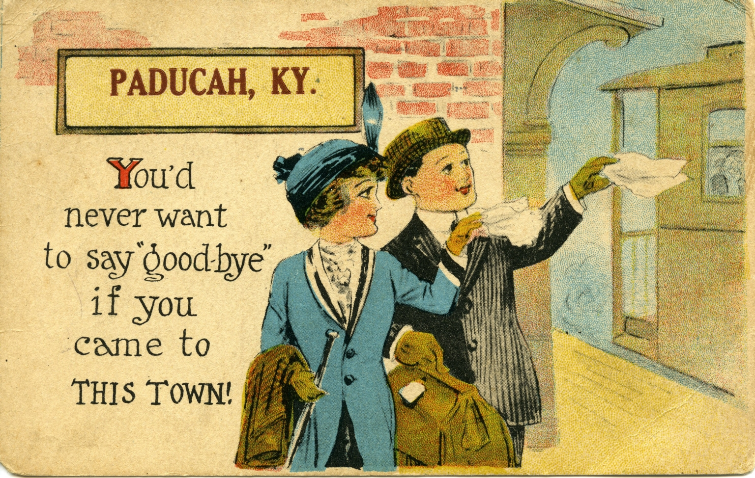 Promotional post card for city of Paducah (KY)