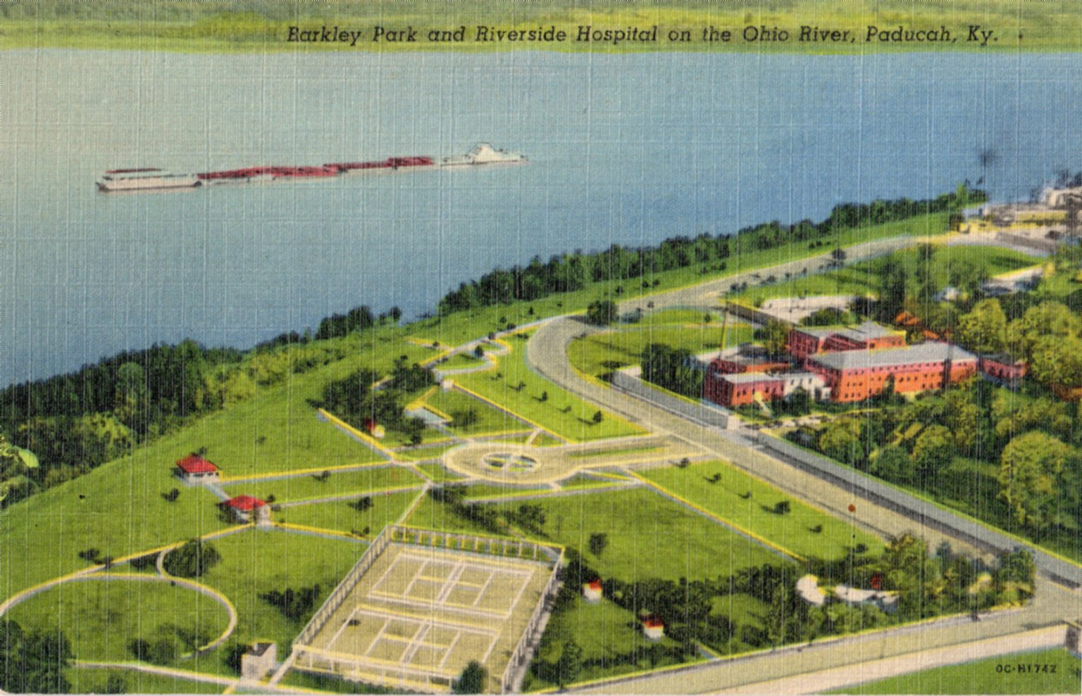 Barkley Park and Riverside Hospital on the Ohio River, Paducah, Kentucky