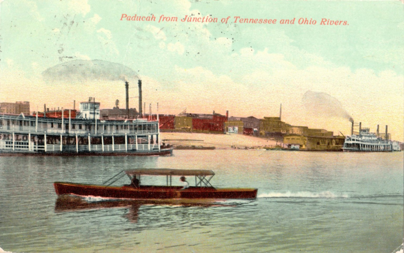 Paducah from Junction of Tennessee and Ohio Rivers