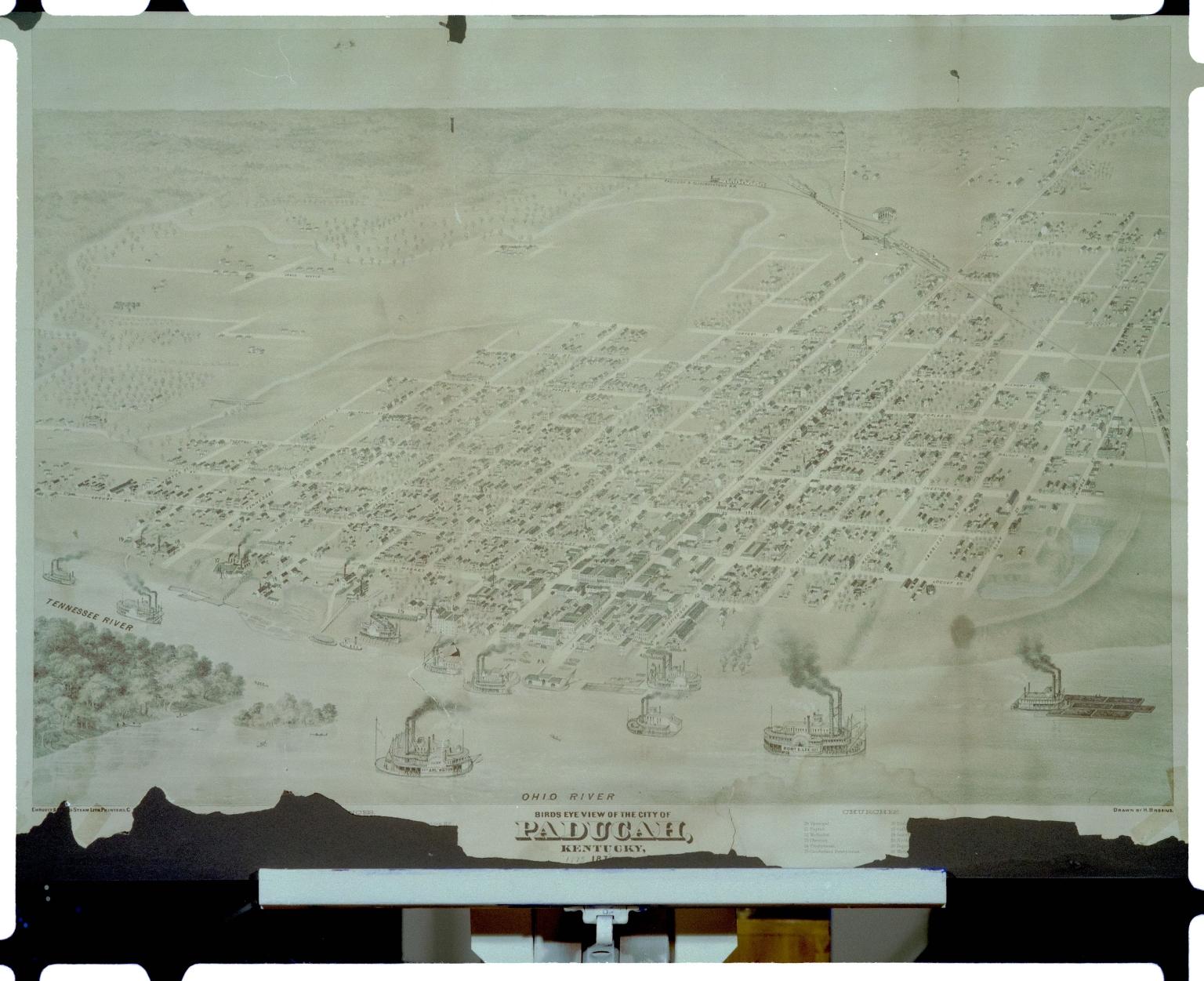 1873 Map of Paducah