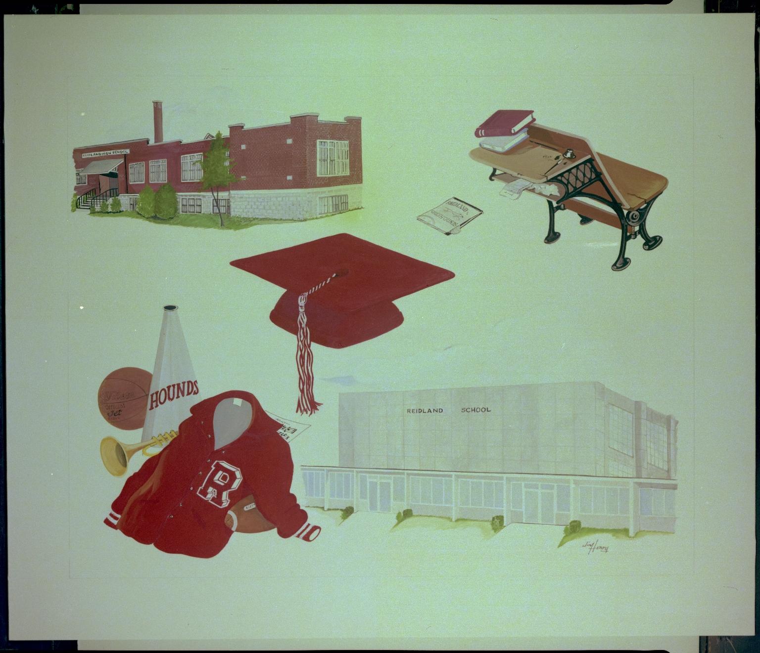 Drawing of Reidland Schools