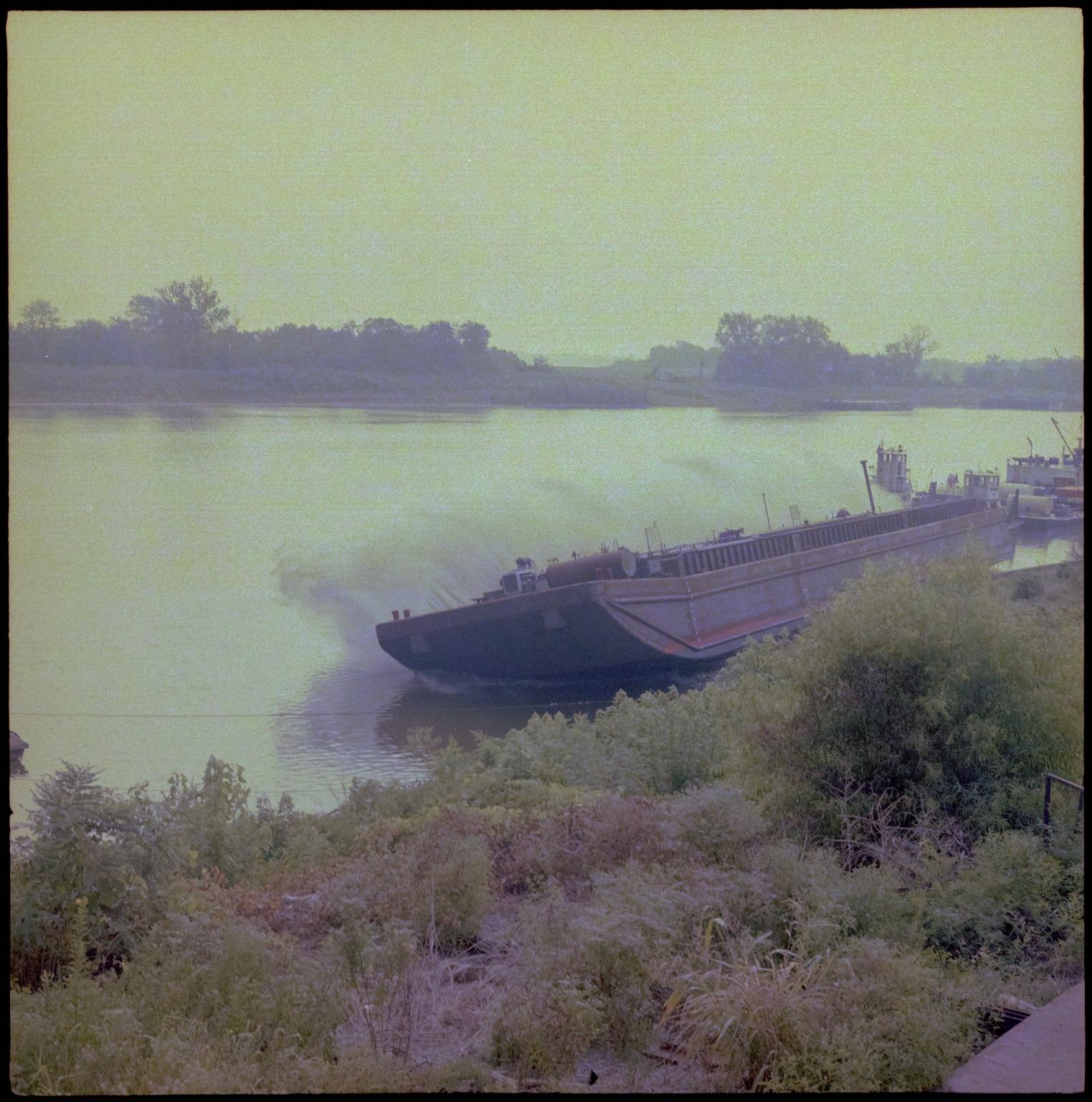 Paducah Marine Ways Barge Launching
