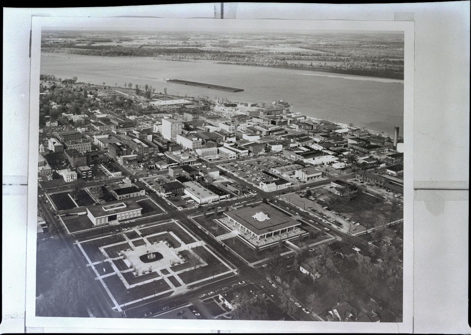 Aerial of Downtown Paducah