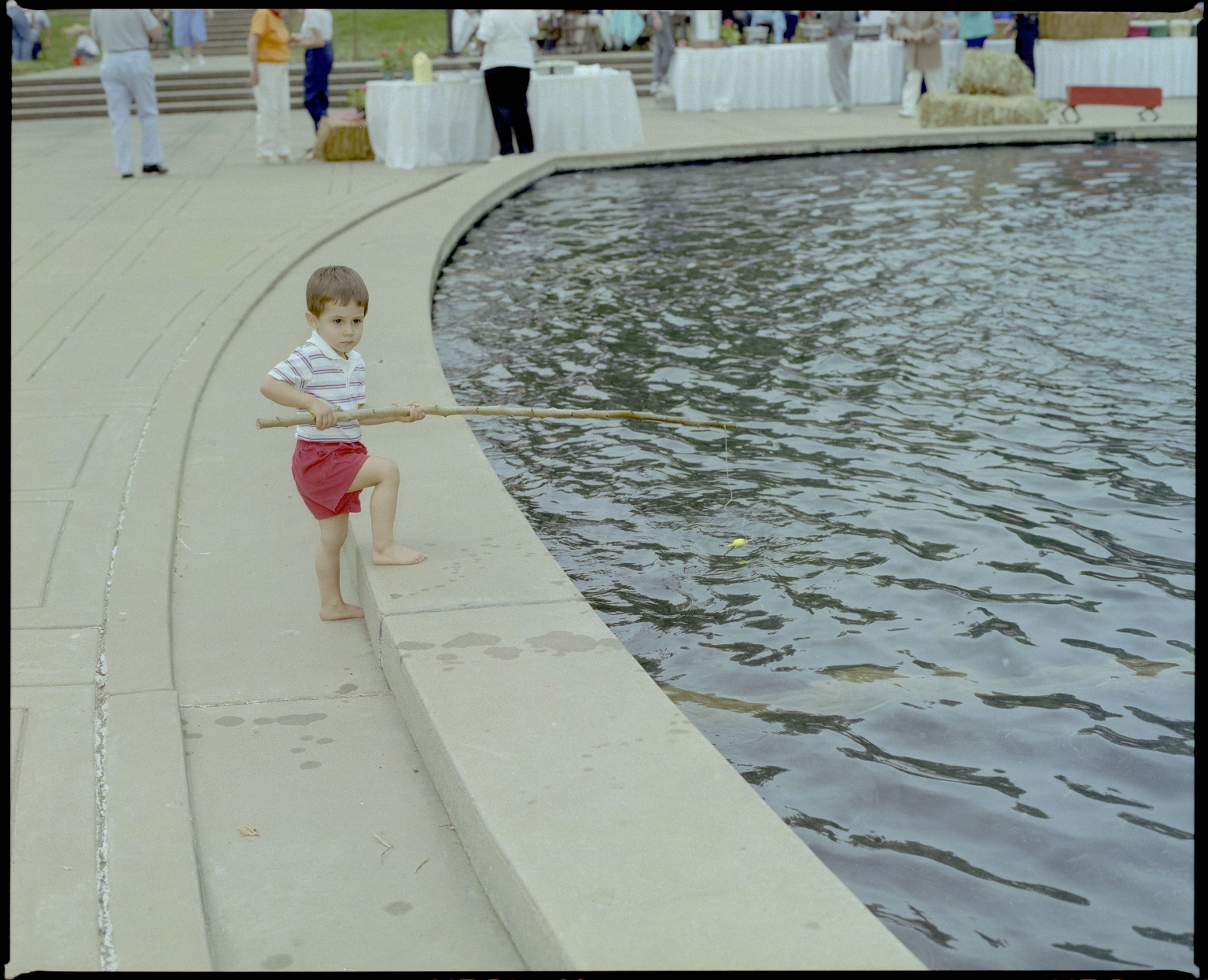 Barefoot Fishing in the Fountain
