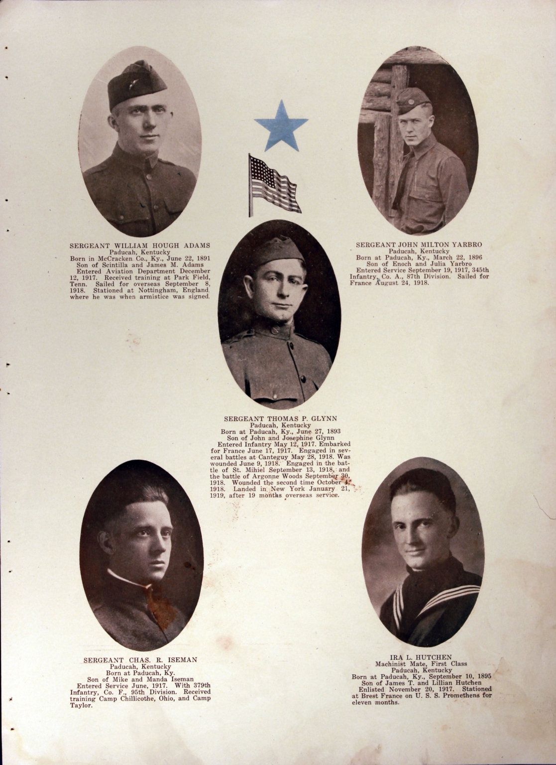 WWI Honor Roll Page 098