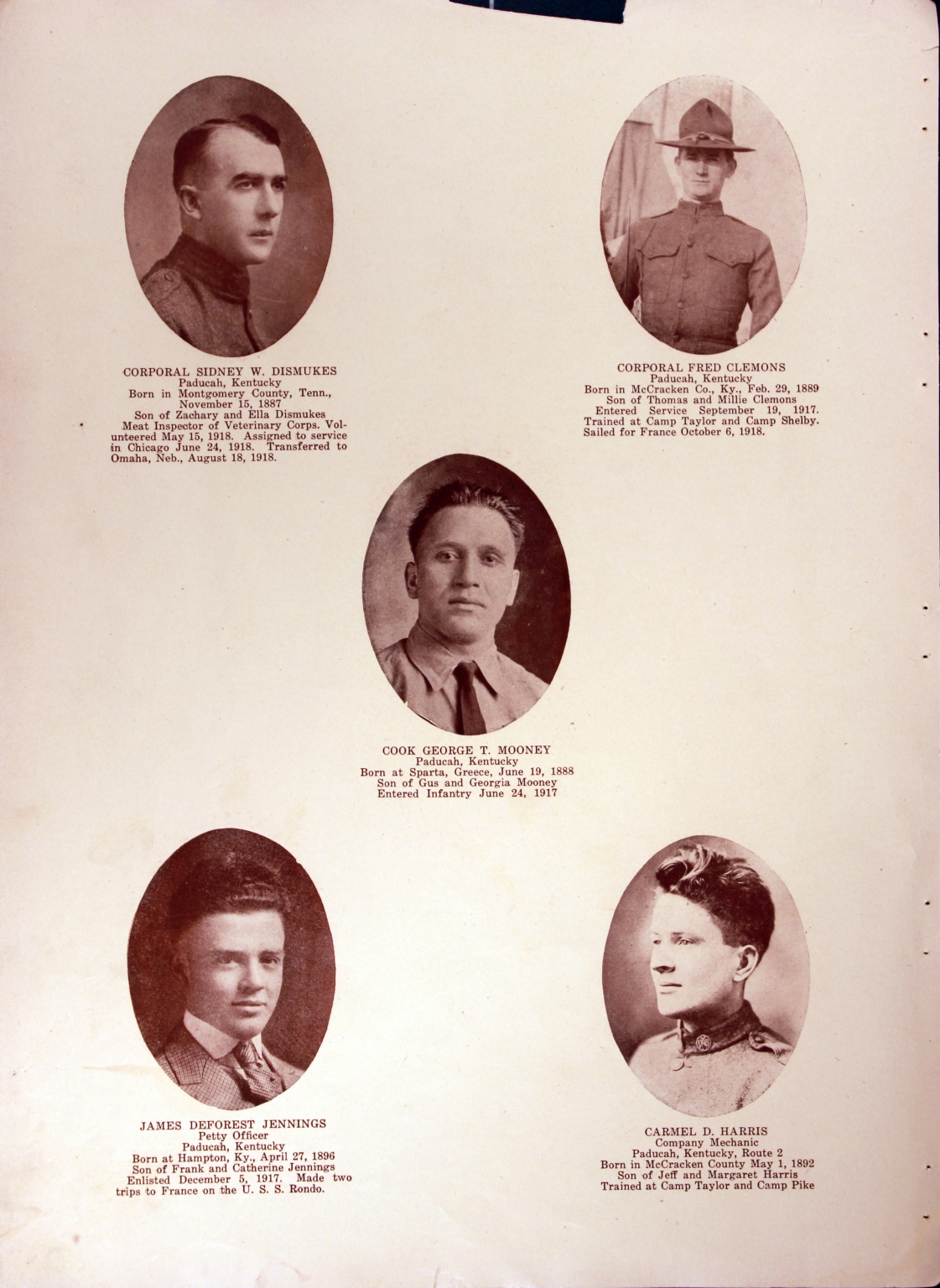 WWI Honor Roll Page 105