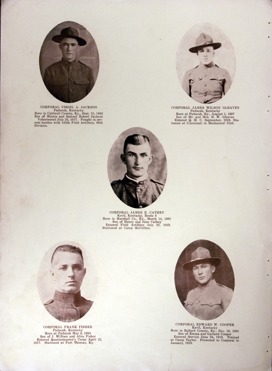 WWI Honor Roll Page 121