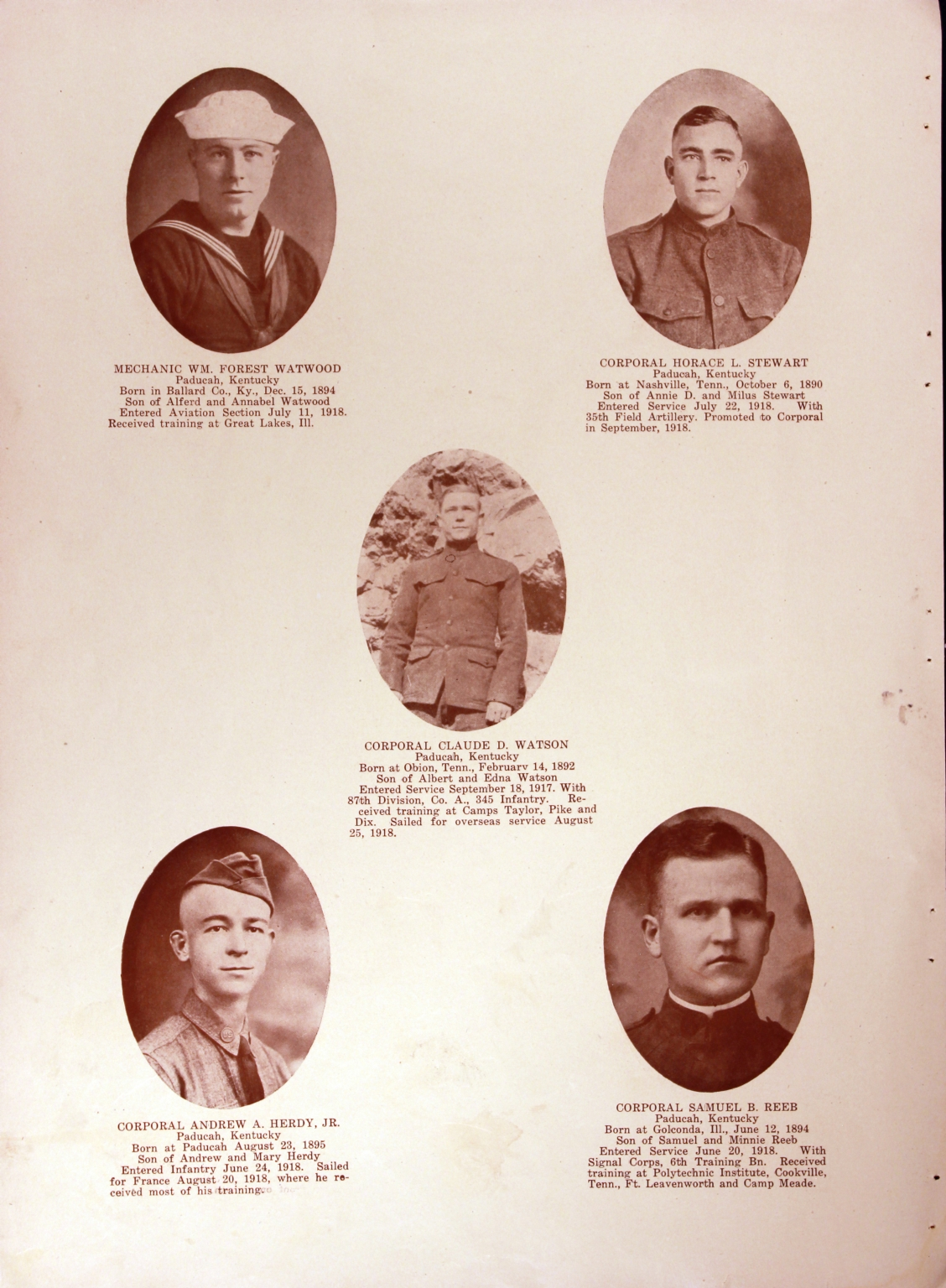 WWI Honor Roll Page 127