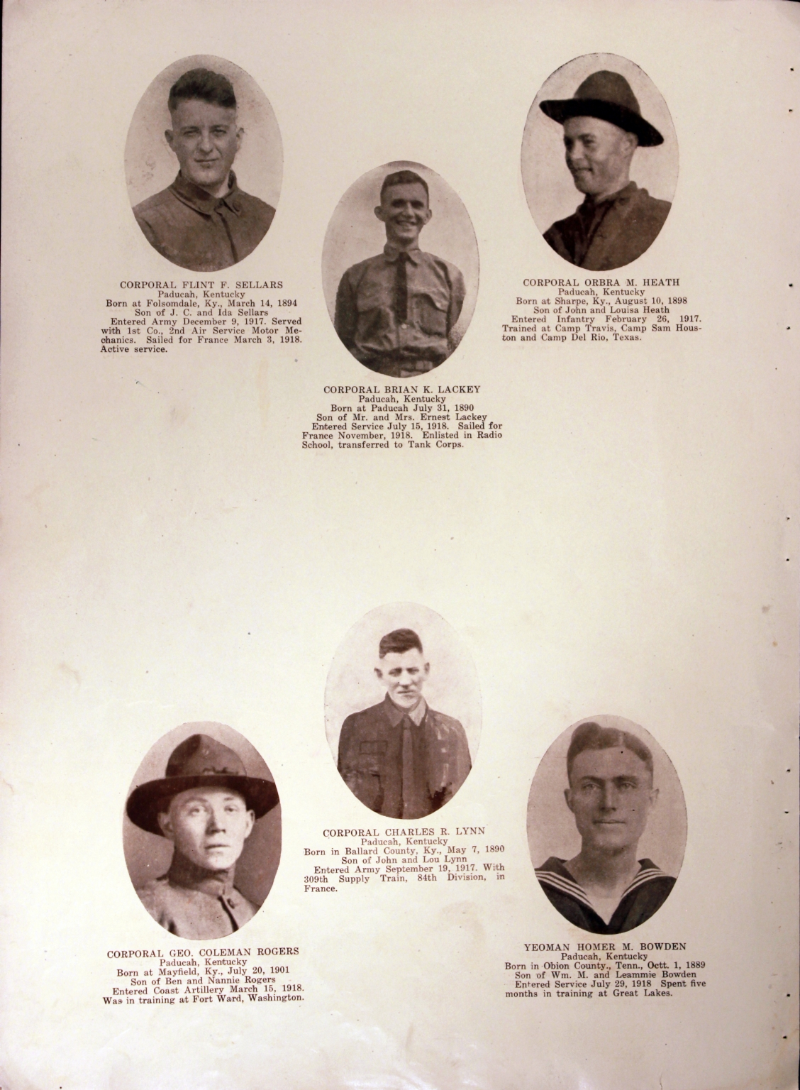 WWI Honor Roll Page 133
