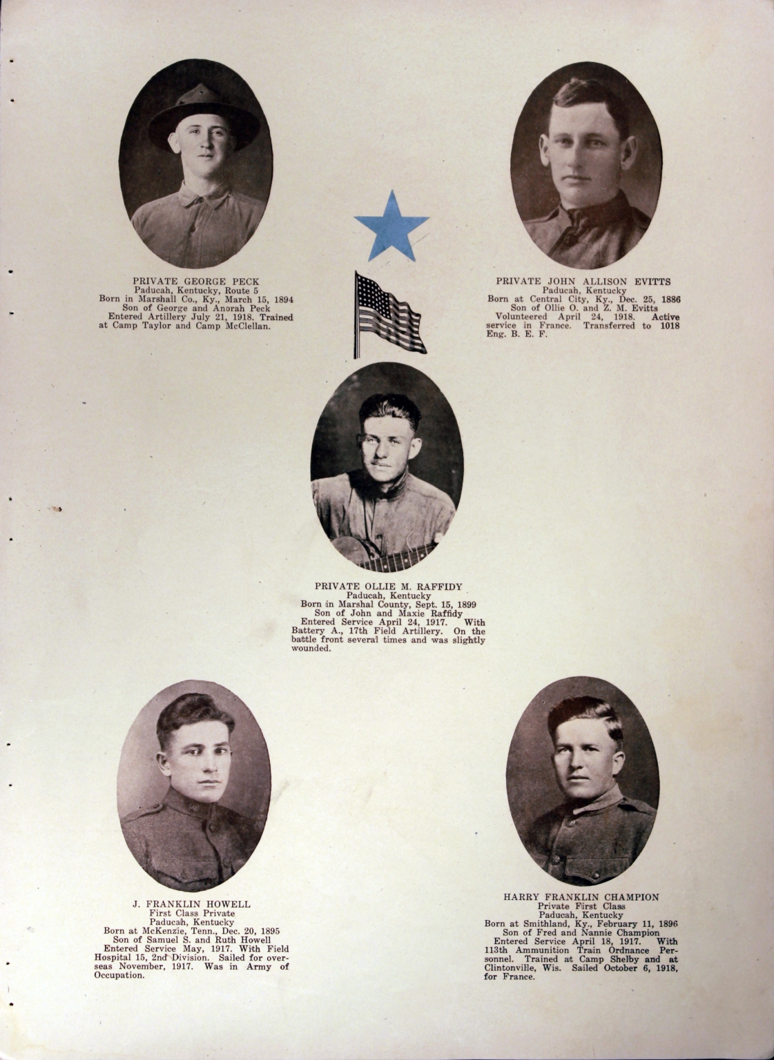 WWI Honor Roll Page 138