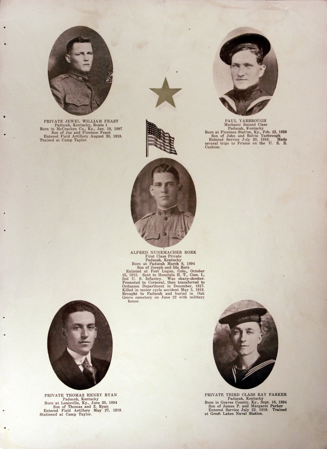 WWI Honor Roll Page 142